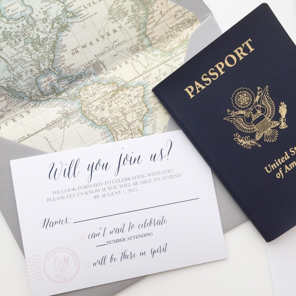 Map Themed Wedding Invitations for a Destination Wedding