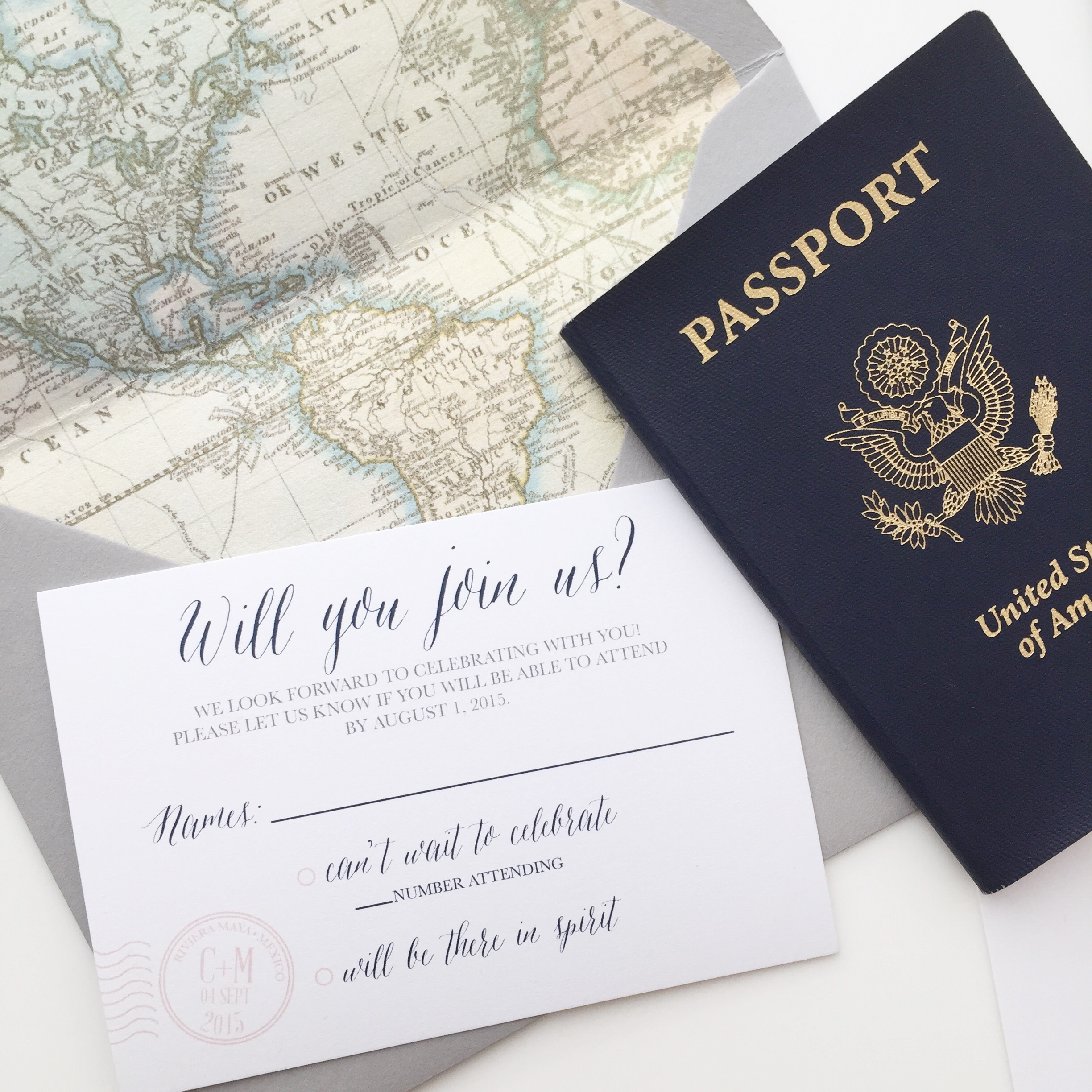 FEATURE: Travel Themed Wedding Invititations | oh my! designs by steph