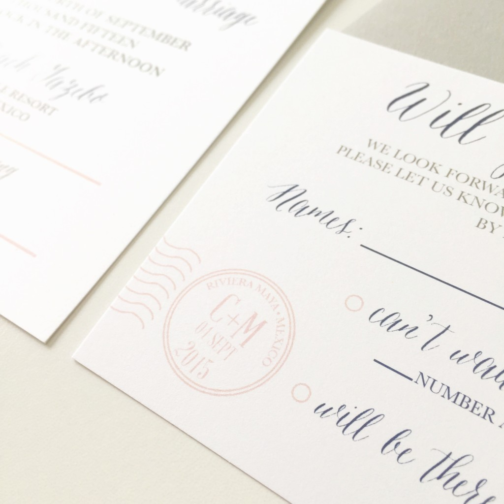 Travel Themed Wedding Invitation Stamp