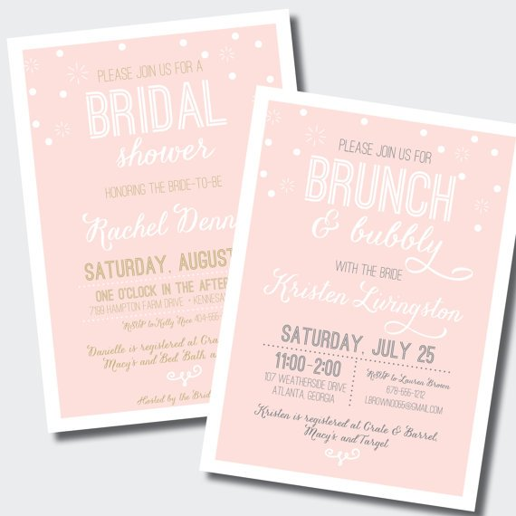Bridal Shower Invitations for a Bubbly Brunch