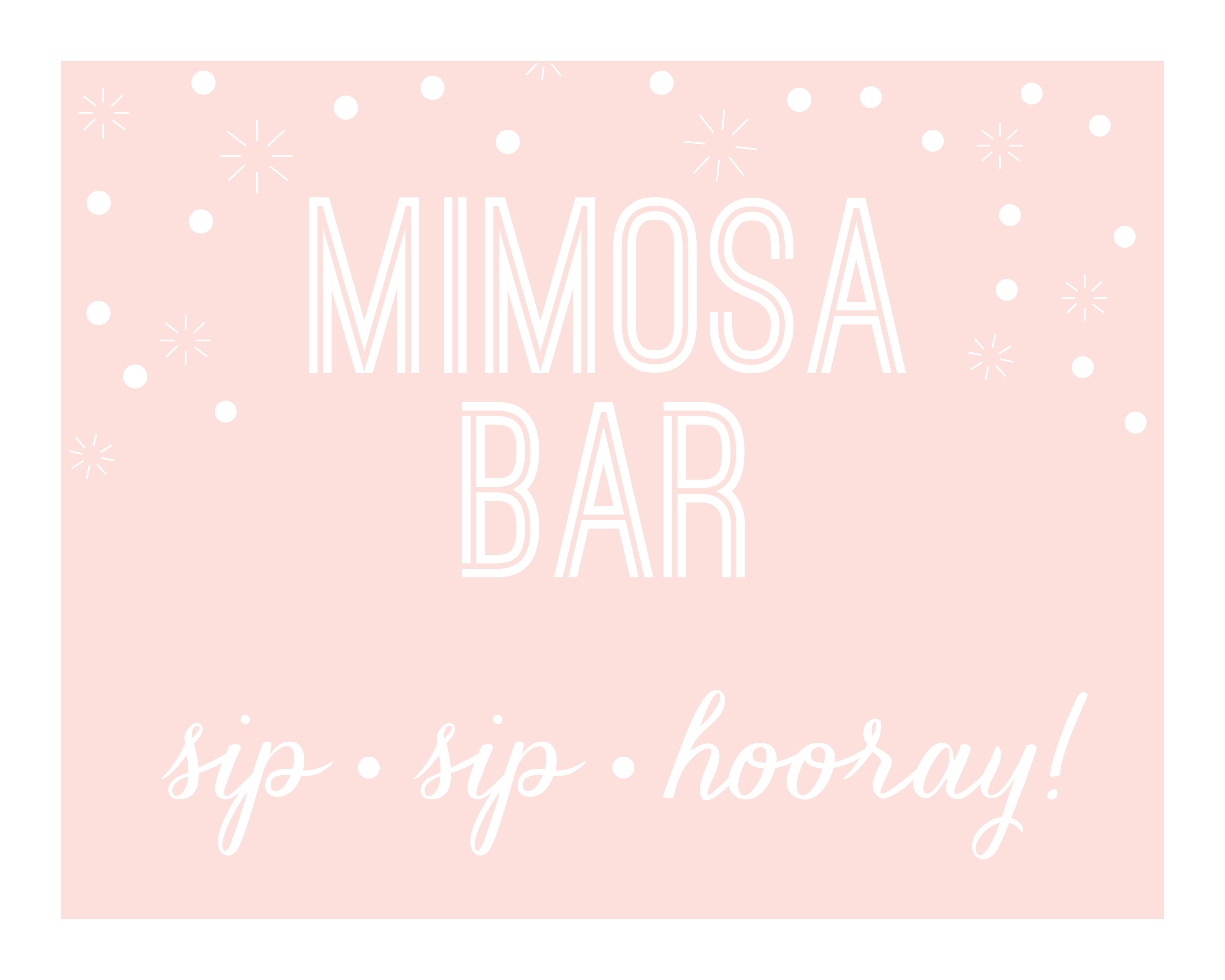 image regarding Free Printable Mimosa Bar Sign titled Bubbly Bridal Shower Determination oh my! programs via steph