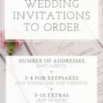 How Many Wedding Invitations Should I Order?