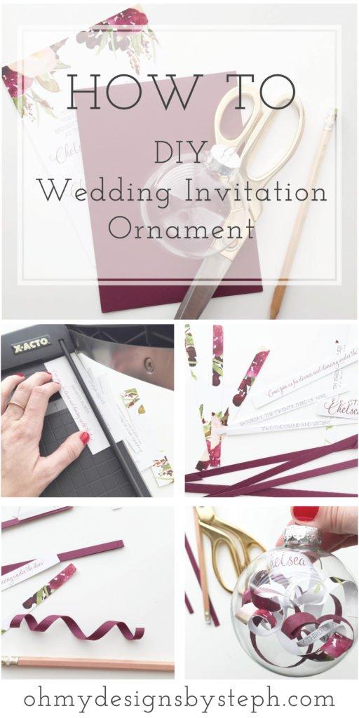 Wedding Invitation DIY Tutorial