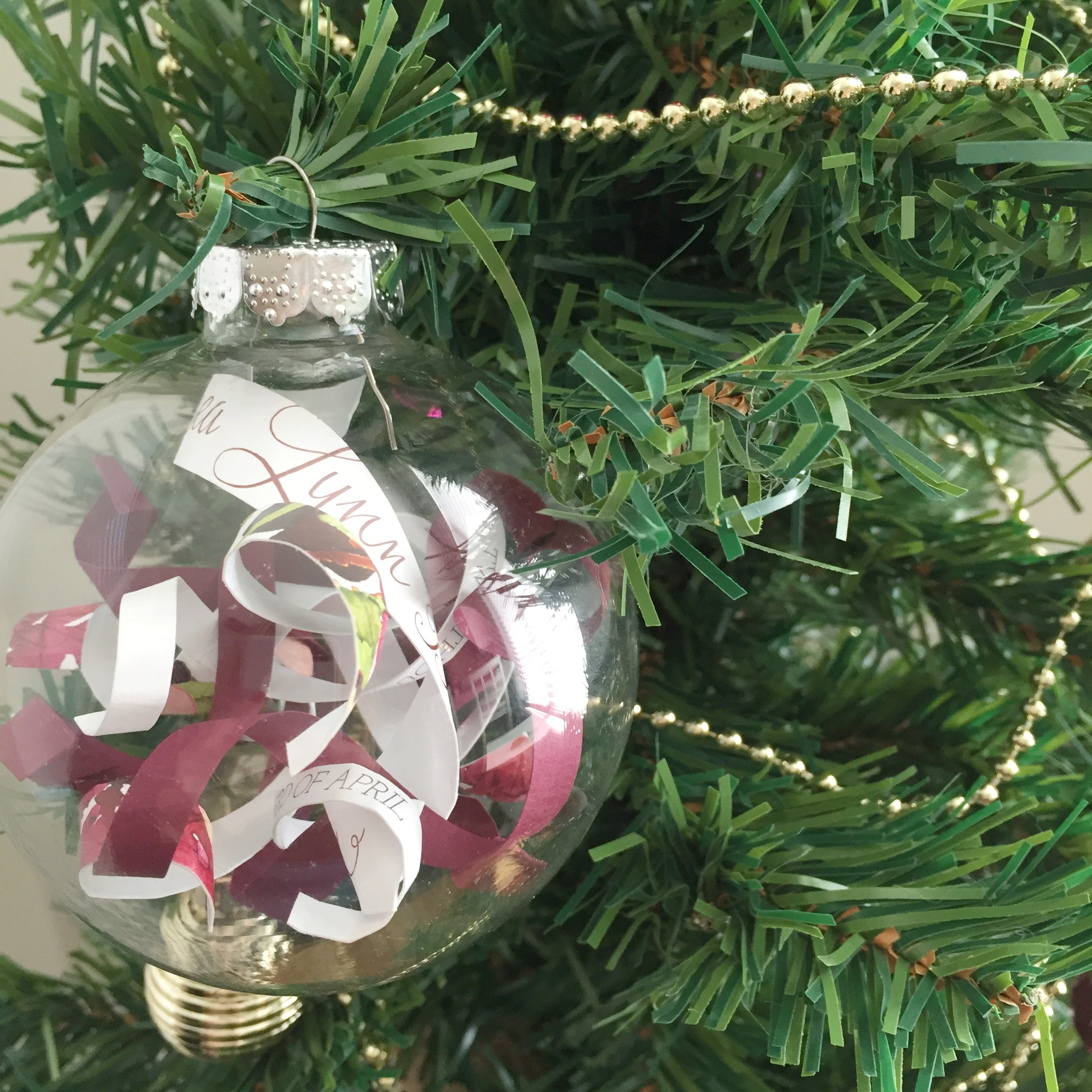 First married christmas ornament - Married Christmas