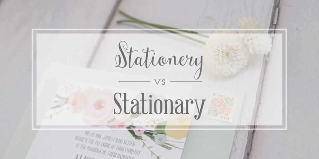 Stationery Stationary