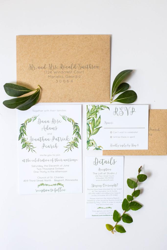 Natural Rustic Wedding Invitations