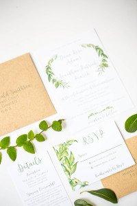 Rustic Natural Wedding Invitations