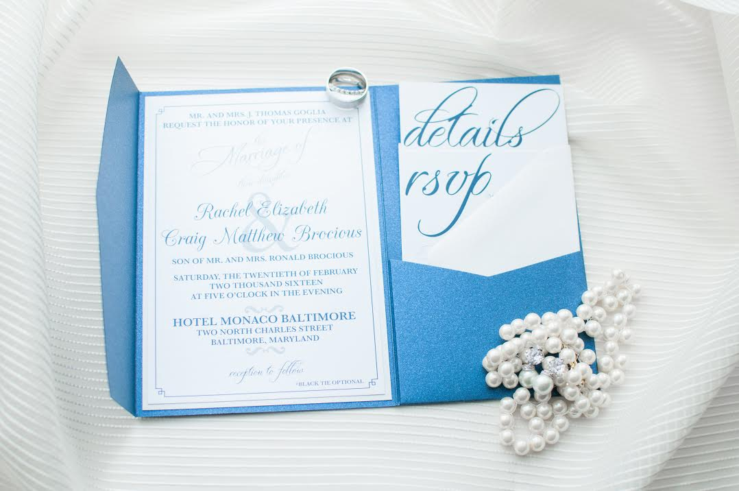 Pocket Wedding Invitation Suite