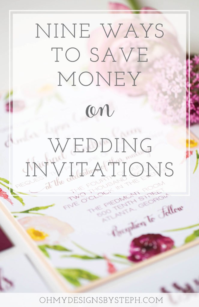 Save Money on Wedding Invitations
