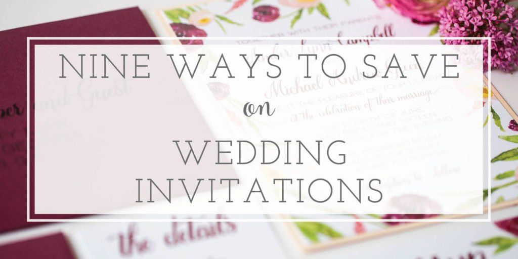 Tips to Save Money on Wedding Invitations