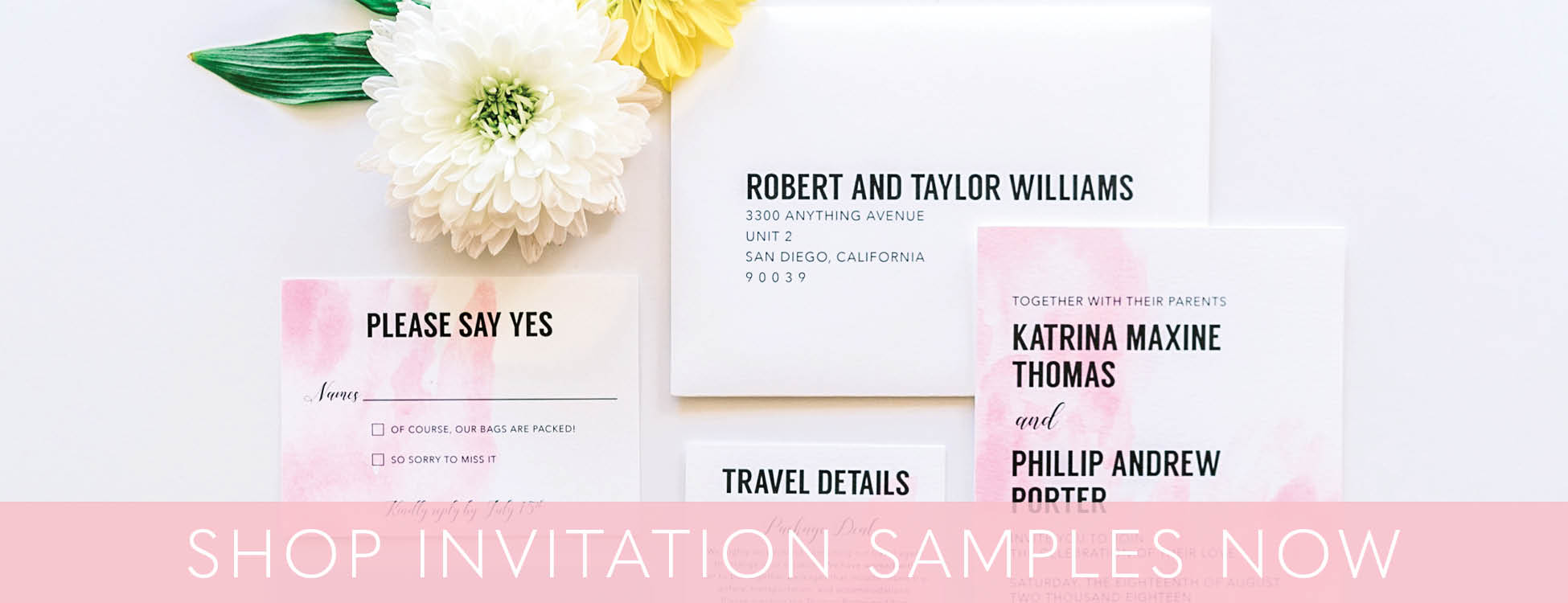 Modern San Diego Wedding Invitations