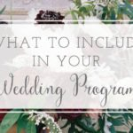 What is Included in Wedding Programs?
