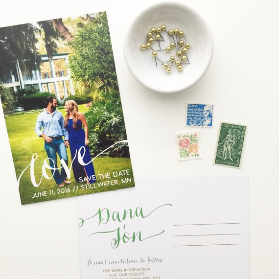Custom Save the Date by oh my designs