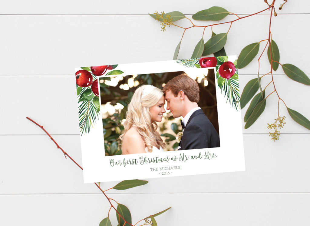 First Married Christmas Holiday Cards | oh my! designs by steph