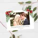 First Married Christmas Holiday Cards