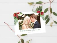 First Married Christmas Card