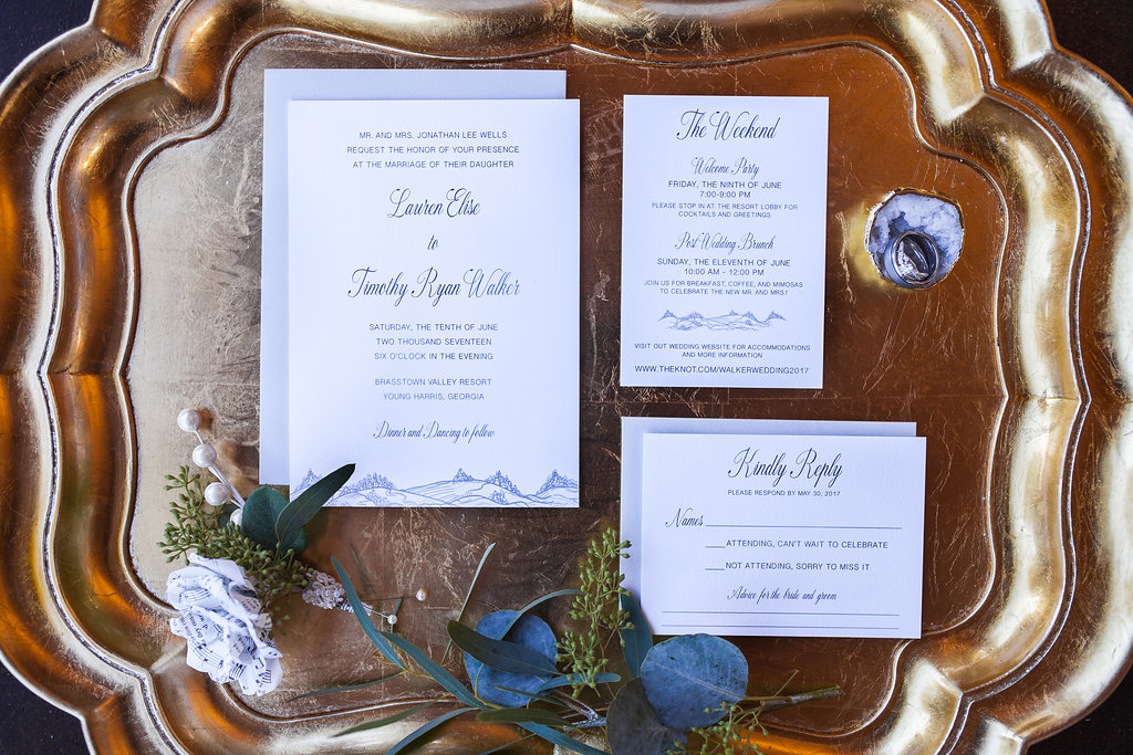 Mountain Themed Wedding Invitation | oh my! designs by steph