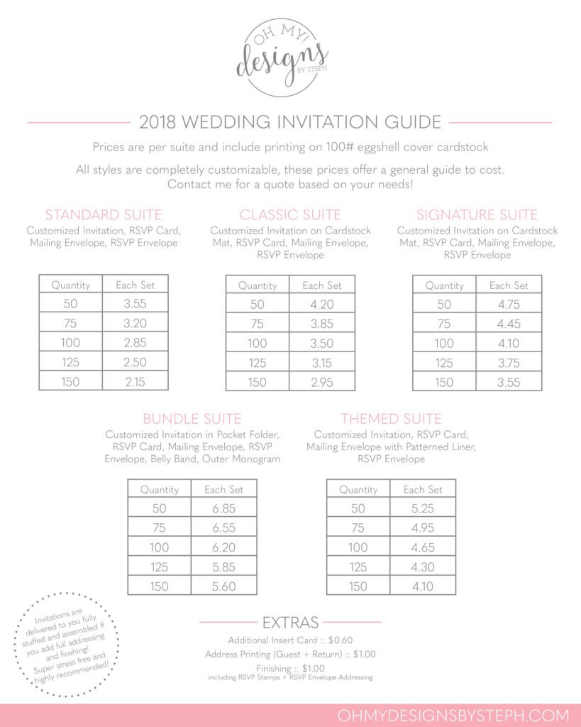 pricing | oh my! designs by steph