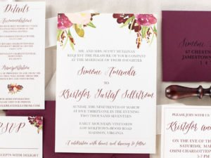 Floral Marsal Wedding Invite