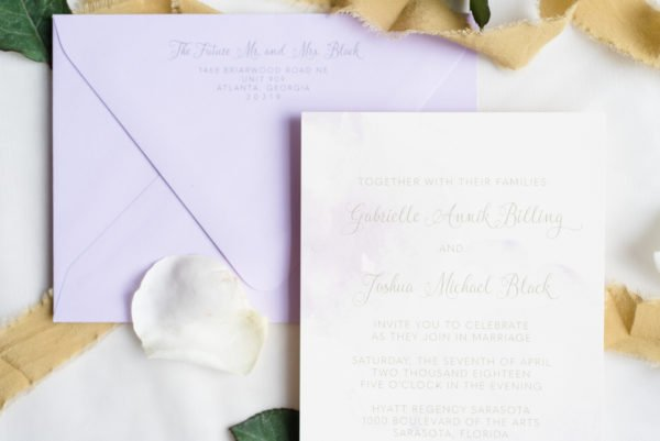 Purple Watercolor Invitations