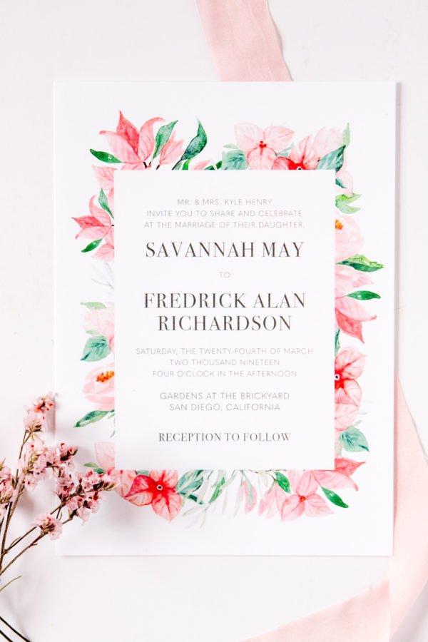 Bougainvillea Wedding Invitation