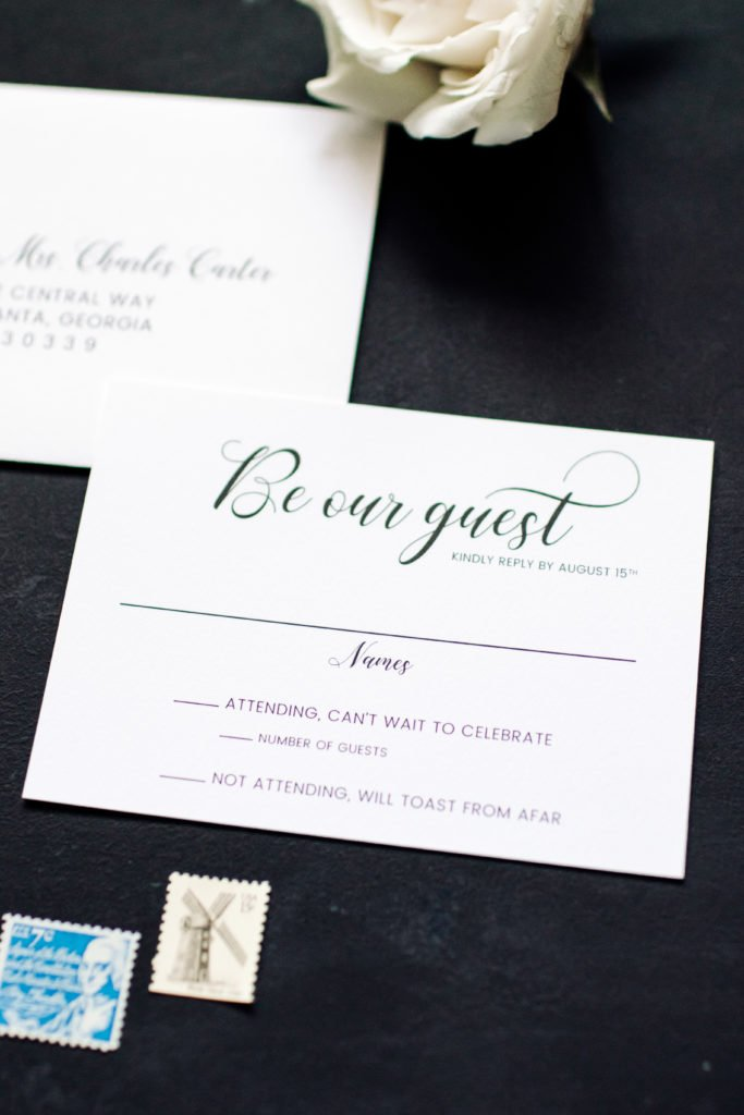 Modern Wedding RSVP Card