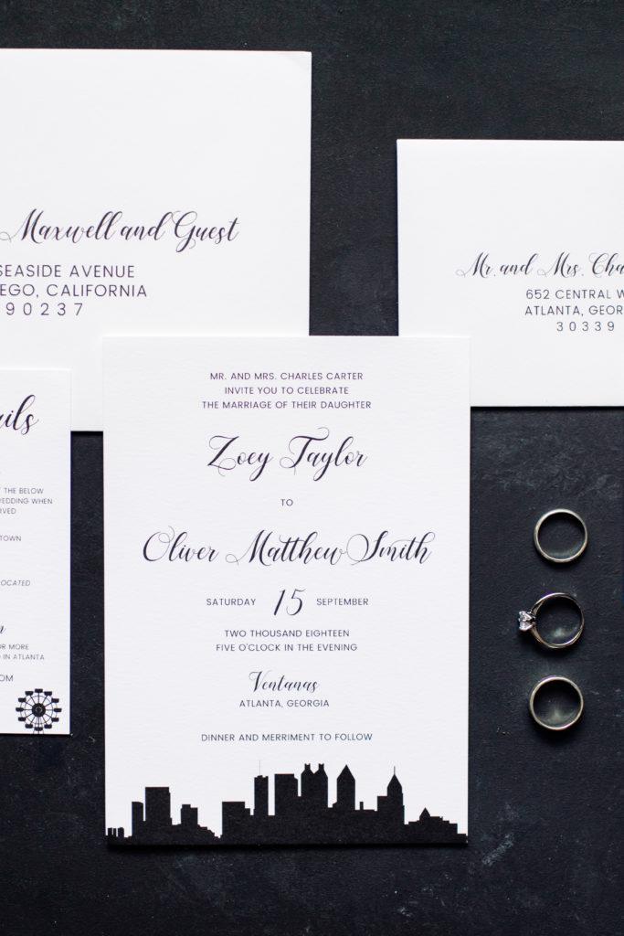 Modern City Skyline Wedding Invitation