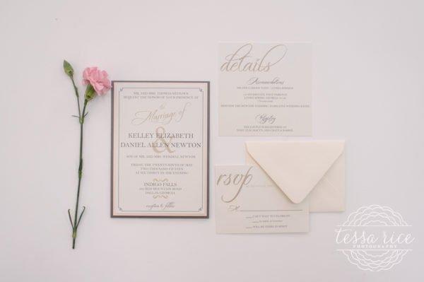 Grey and Blush Wedding Invitations
