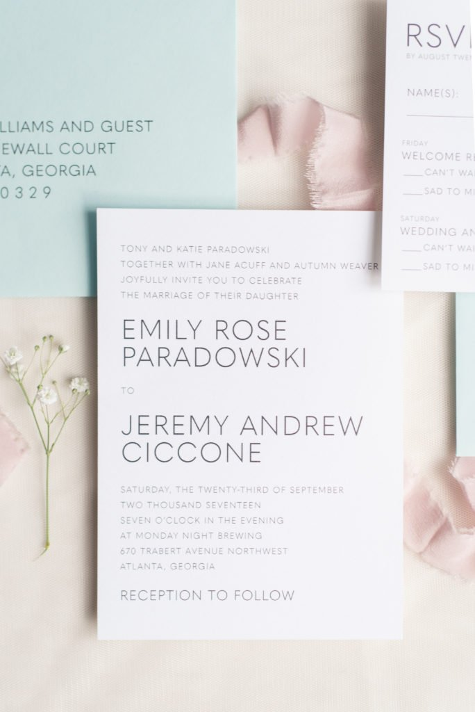 Understated Wedding Invitation