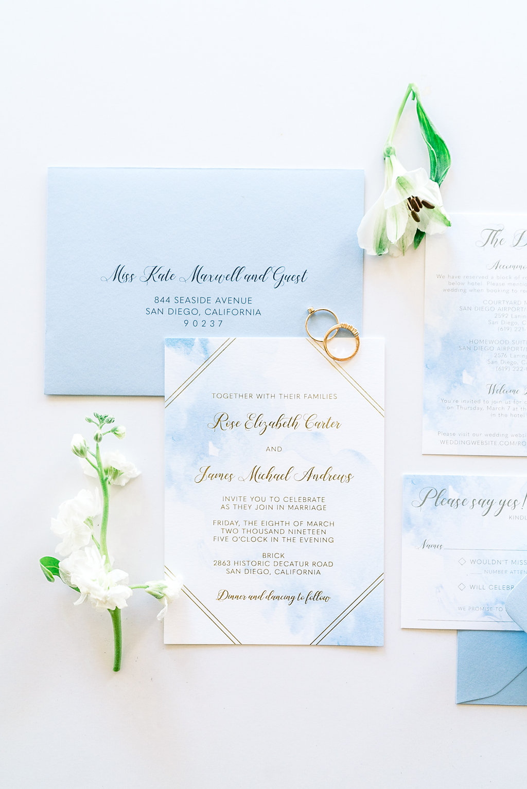 Blue And Gold Wedding Invitation: Blue And Gold Wedding Invitations At Websimilar.org