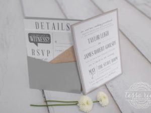 Typography Pocket Wedding Invitation