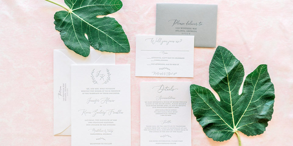 Letterpress Wedding Invitations