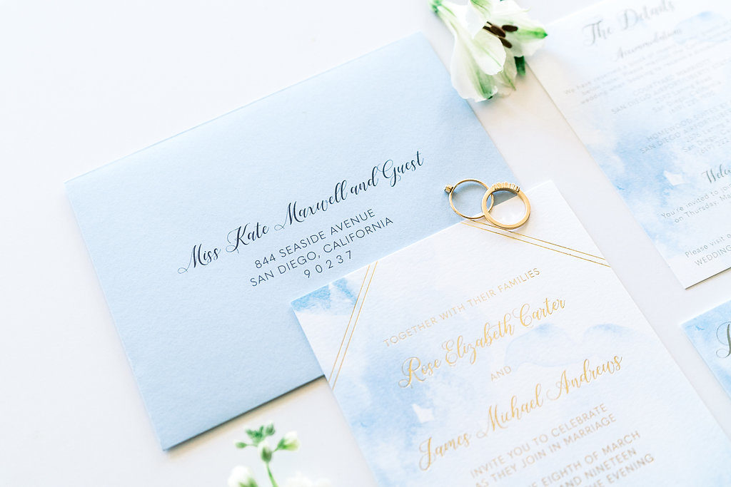 Modern Gold Foil Invitation
