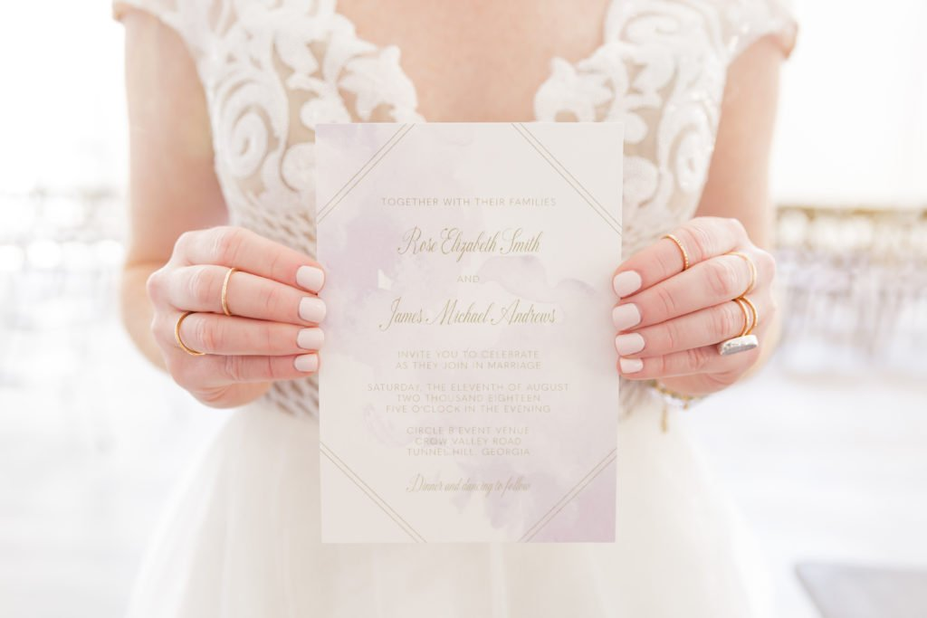 Romantic Lavender Wedding Invitations