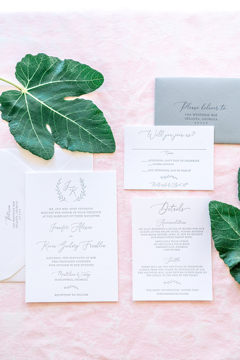 Simple Letterpress Invitations