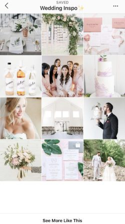 Instagram Wedding Planning