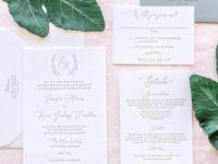 San Diego Wedding Invitations Letterpress