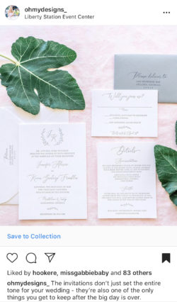 San Diego Wedding Invitations Letterpress