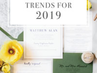 2019 Wedding Invitation Trends