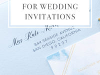 Digital Address Envelope Printing for Wedding Invitations