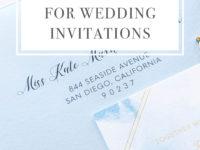 Digital Address Envelope Printing for Wedding Invitations