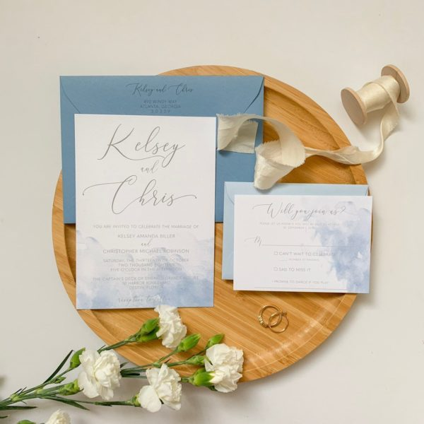 Romantic Destination Wedding Invitations