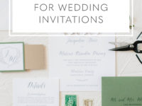 How to choose fonts for wedding invitations