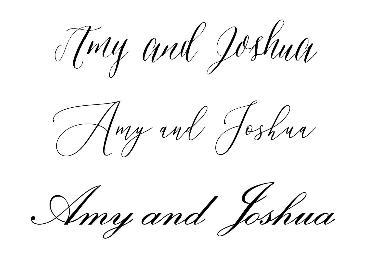 Script Fonts for Wedding Invitations