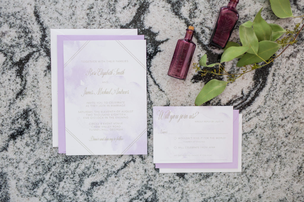 Lavender San Diego Wedding Invitations