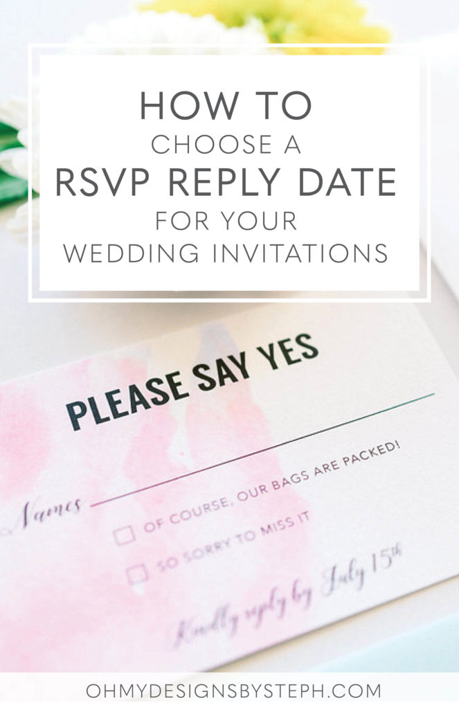 Choosing a Reply By Date for Your Wedding RSVP Cards