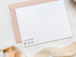 Rose Gold Foil Notecard