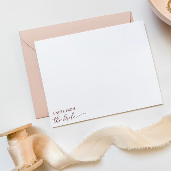 Rose Gold Foil Notecard