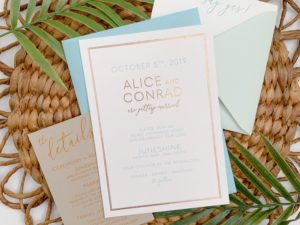 Boho Modern Wedding Invitation