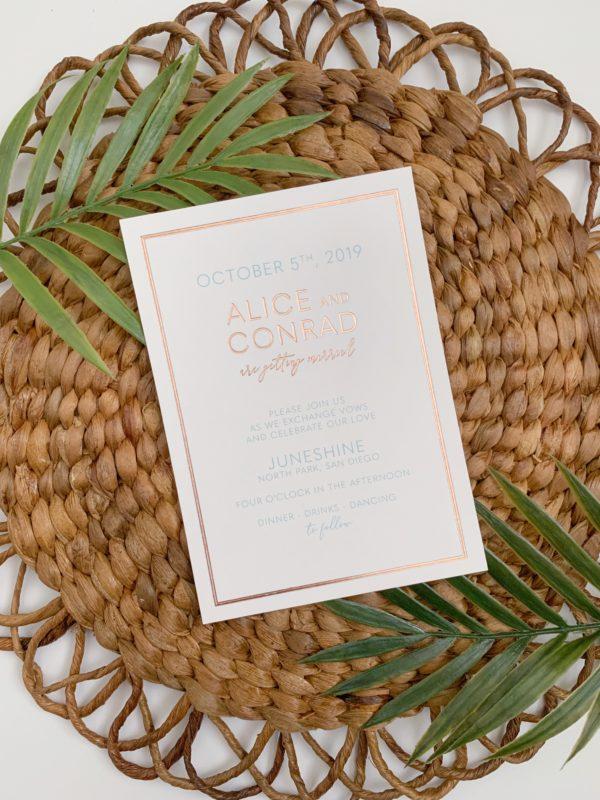 San Diego Wedding Invitation